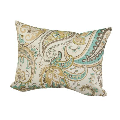 Hadia Paisley Indoor/Outdoor Throw Pillow Size: 12 H x 16 W x 5 D, Color: Maroon