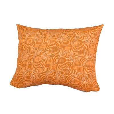 Waves Outdoor Throw Pillow Size: 12 H x 16 W x 5 D, Color: Orange