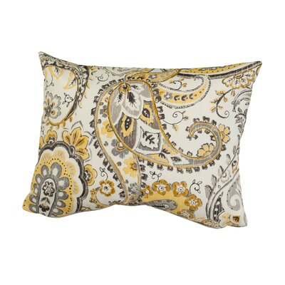 Hadia Paisley Indoor/Outdoor Throw Pillow Size: 12 H x 16 W x 5 D, Color: Yellow