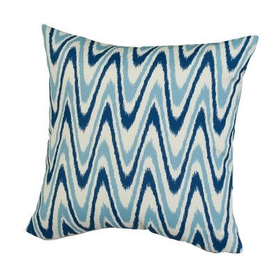 Dunes Indoor/Outdoor Throw Pillow Size: 17 H x 17 W x 5 D, Color: Blue