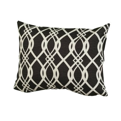 Geometric Indoor/Outdoor Throw Pillow Size: 12 H x 16 W x 5 D, Color: Black