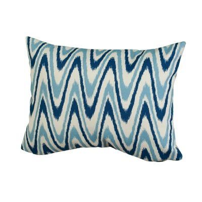Dunes Indoor/Outdoor Throw Pillow Size: 12 H x 16 W x 5 D, Color: Blue