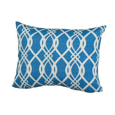 Geometric Indoor/Outdoor Throw Pillow Size: 12 H x 16 W x 5 D, Color: Blue