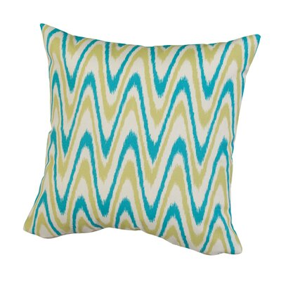 Dunes Indoor/Outdoor Throw Pillow Size: 17 H x 17 W x 5 D, Color: Cyan