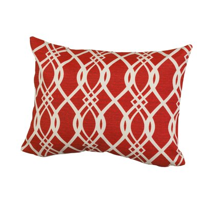 Geometric Indoor/Outdoor Throw Pillow Size: 12 H x 16 W x 5 D, Color: Red