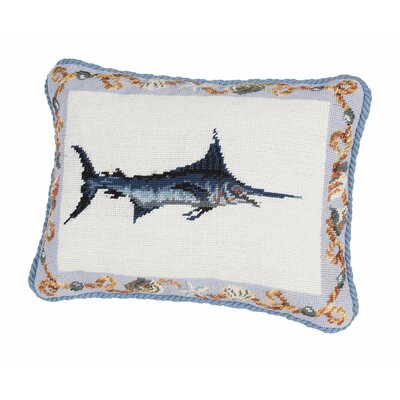 Swordfish Needlepoint Boudoir/Breakfast Pillow