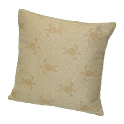 Coastal Sea Turtle Throw Pillow Size: 18 x 18, Color: Tropic / Warm Yellow