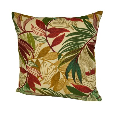 Red/Green Island Outdoor/Indoor Throw pillow
