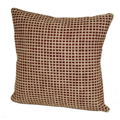 Aazad Throw Pillow Color: Berry/Ivory, Size: 17 x 17