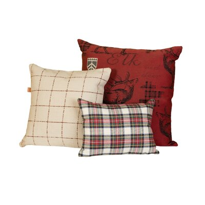 Alcorn Holiday 3 Piece Throw Pillow Set