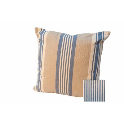 Cape Canaveral Stripe Throw Pillow Color: Denim, Size: 18
