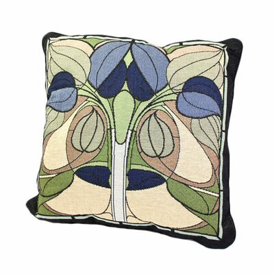 Arts and Crafts Art Nouveau Floral Window Throw Pillow