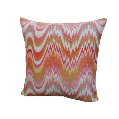 Kaleidoscope Throw Pillow Size: 24 x 24, Color: Watermelon