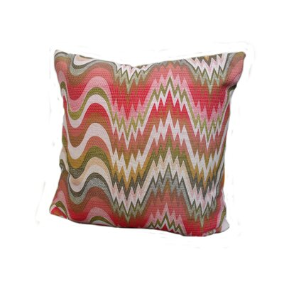 Kaleidoscope Throw Pillow Size: 18 x 18, Color: Watermelon
