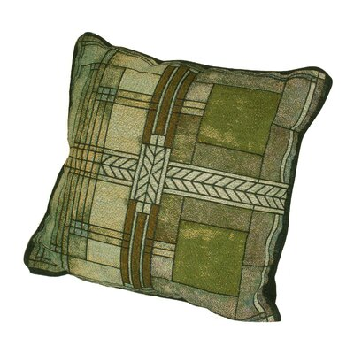 Frank Lloyd Wright Ward Willits Cotton Throw Pillow