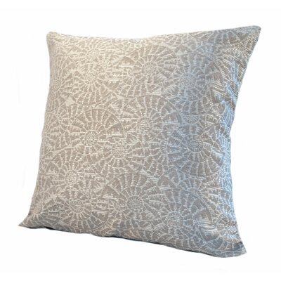 Coastal Tide Pool Throw Pillow Size: 24 x 24, Color: Cove / Shimmering Silver