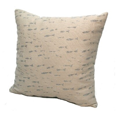 Coastal Minnow Throw Pillow Size: 24 x 24, Color: Cove / Shimmering Silver