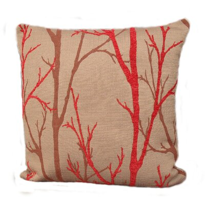 Woodlands Throw Pillow Size: 18, Color: Coral / Red