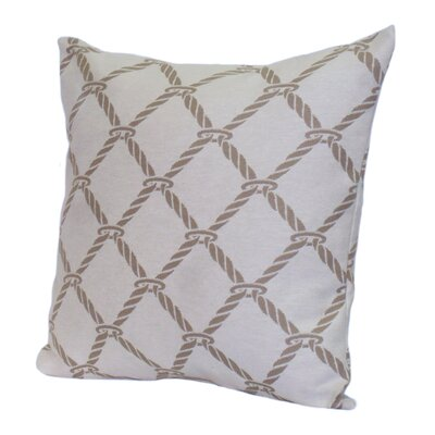 Nautical Rope Stuffed Throw Pillow Size: 18 x 18, Color: Sand