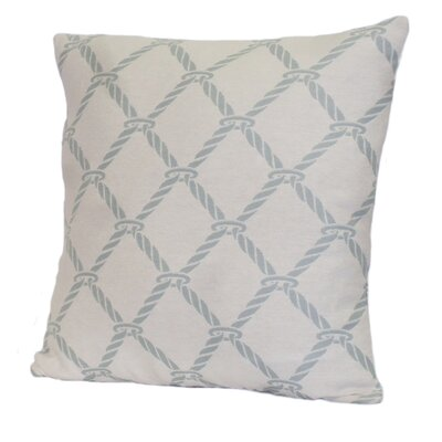Nautical Rope Stuffed Throw Pillow Size: 18 x 18, Color: Surf Blue