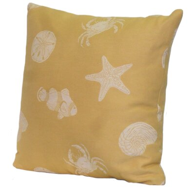 Key West Shells Stuffed Throw Pillow Color: Tropic, Size: 24 x 24
