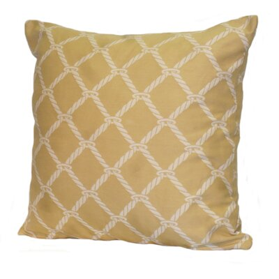 Nautical Rope Stuffed Throw Pillow Size: 18 x 18, Color: Tropic