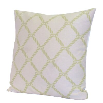 Nautical Rope Stuffed Throw Pillow Size: 24 x 24, Color: Green