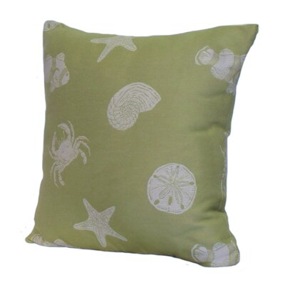 Key West Shells Stuffed Throw Pillow Size: 24 x 24, Color: Green