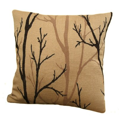 Woodlands Throw Pillow Size: 24, Color: Ebony / Black