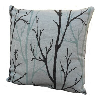 Woodlands Throw Pillow Color: Birch / Beige / Teal, Size: 24