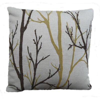 Woodlands Throw Pillow Size: 18, Color: Bamboo / Beige / Pistachio