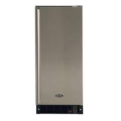 12lb Ice Maker: 34 Tall Color: White With Overlay Door  Hinge: Right