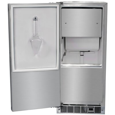 Clear Ice Maker Cabinet Finish: White  Door Finish: Stainless Full Wrap Door