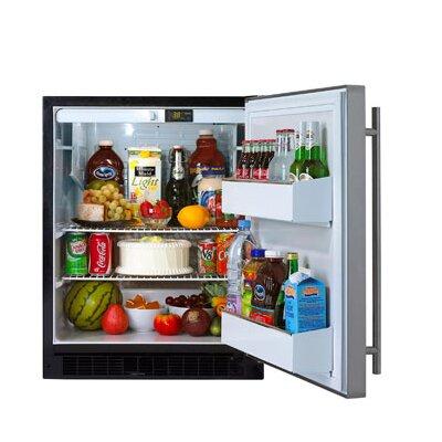 24 All Refrigerator Cabinet Finish: Black  Door Finish: Black Overlay Door