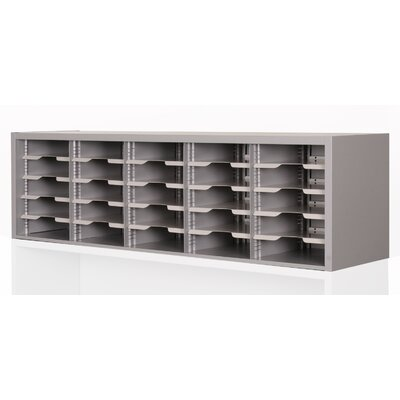 Mailroom Utility Sorter with Adjustable Shelves Color: Gray