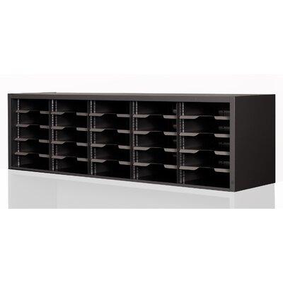 Mailroom Utility Sorter with Adjustable Shelves Color: Black