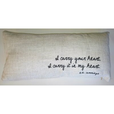 I Carry You Linen Lumbar Pillow