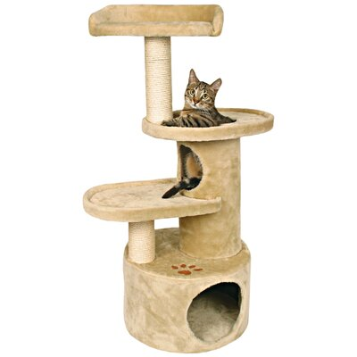 Mallery 41 Oviedo Cat Tree Color: Beige with Brown