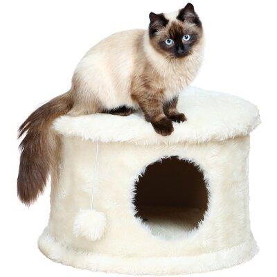 Marcell 13 Cozy Cat Condo Color: Cream