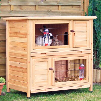Lowman 2 Story Small Animal Hutch Color: Natural
