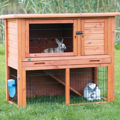 Lowrey Animal Hutch with Sloped Roof Size: 38 H x 45.5 W x 24.75 D