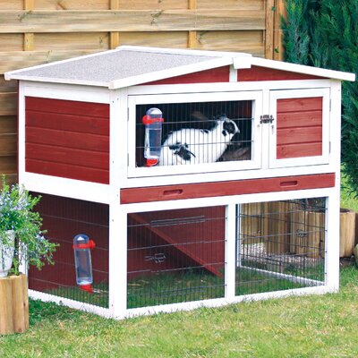 Macleod Small Animal Hutch Color: Red / White