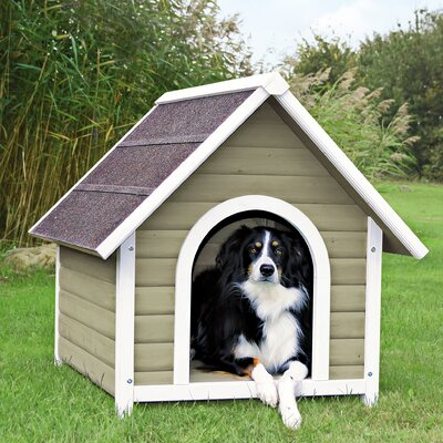 Nantucket Dog House Size: Medium (33.25 H x 31.25 W x 37 D), Color: Gray / White