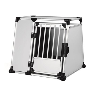 Luther Scratch-Resistant Metallic Pet Crate Size: XX-Large (34.25 H x 37 W x 36.5 L)