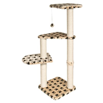 Lyons Altea 46 Cat Tree Color: Beige with Paw Prints