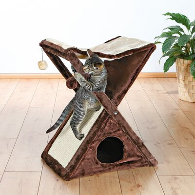 25 Miguel Cat Tree Color: Chocolate Brown