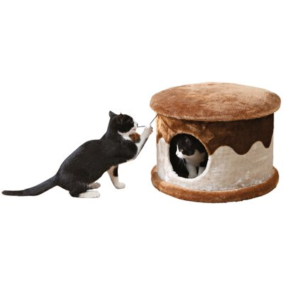 Marcell 13 Cozy Cat Condo Color: Chocolate Brown with Beige