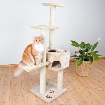 Madge 56 Alicante Cat Tree Color: Beige