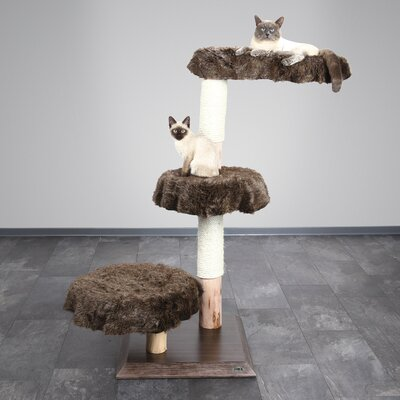 52 Kibira Cat Tree Color: Marbled Brown-Beige