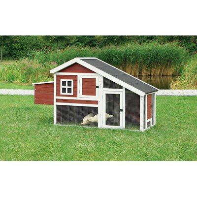 Trixie Chicken Coop  Finish: Dark Red